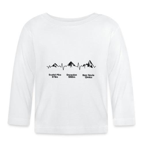 ECG Thee Peaks Light Background - Baby Long Sleeve T-Shirt