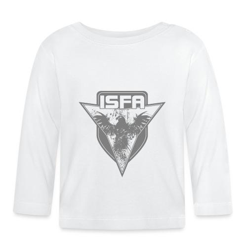 isfa logo 1c grau - Baby Langarmshirt
