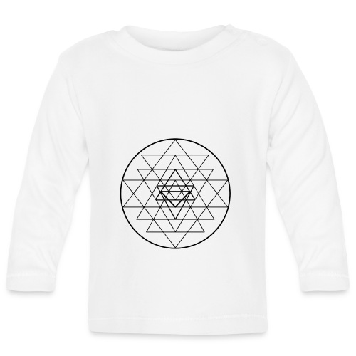 Sri Yantra - black and white - Langærmet babyshirt