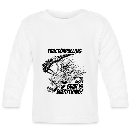 0966 tractorpulling BW - T-shirt