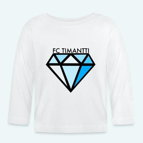 FC Timantti mustateksti - Vauvan pitkähihainen paita