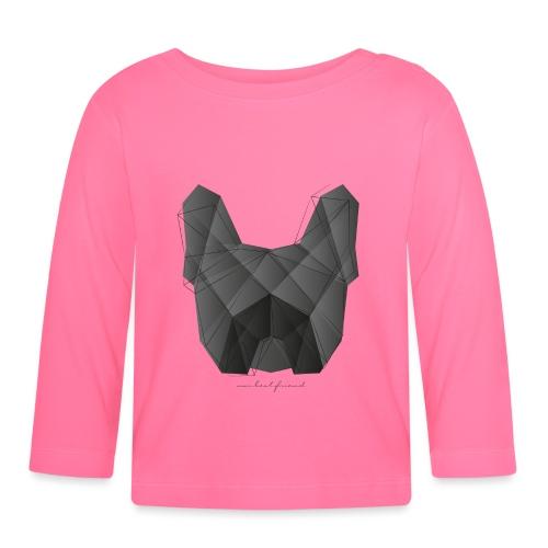 Geometric Frenchie black - Französische Bulldogge - Baby Langarmshirt