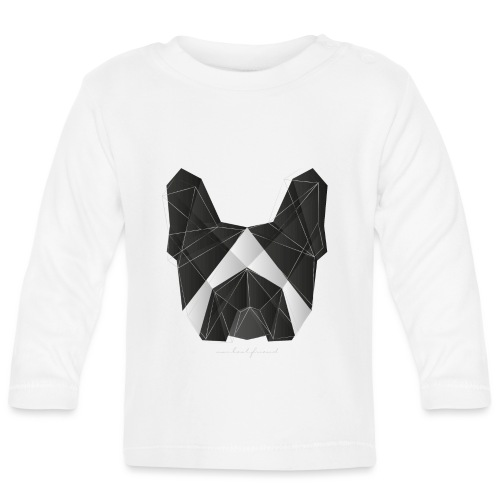 Geometric Frenchie black white - French Bulldog - Baby Langarmshirt