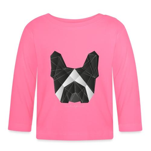 Geometric Frenchie black white - French Bulldog - Baby Langarmshirt