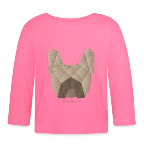 Geometric Frenchie fawn - Französische Bulldogge - Baby Langarmshirt
