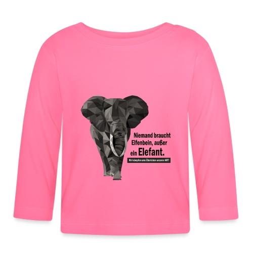 Niemand braucht Elfenbein, außer ein Elefant! - Baby Langarmshirt