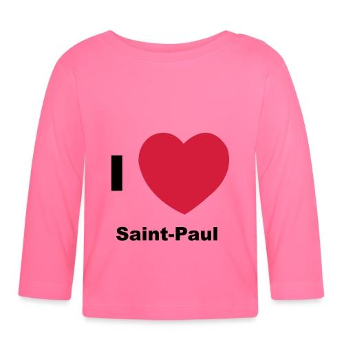 i love sainte paul - T-shirt manches longues Bébé