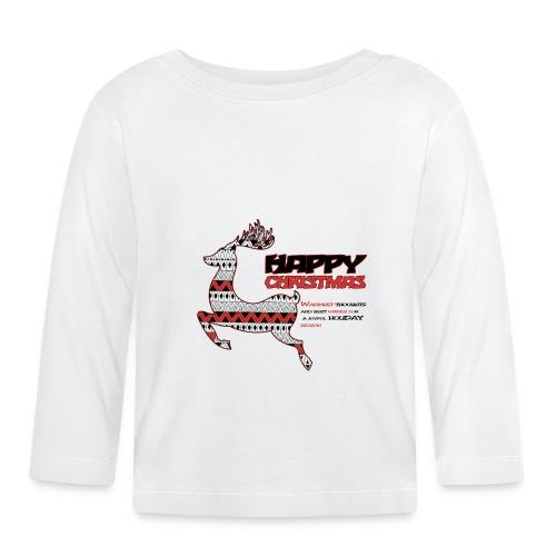happy christmas - T-shirt manches longues Bébé