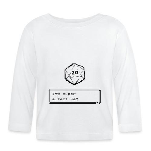 Coup critique d20 super efficace! - D & D Dnd - T-shirt manches longues Bébé