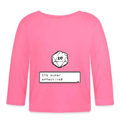 Kriittinen osuma d20 Super Effective! - D & D Dnd - Vauvan pitkähihainen paita