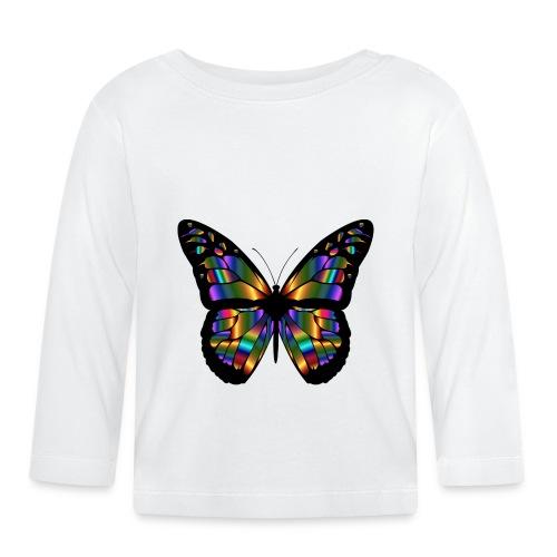 papillon design - T-shirt manches longues Bébé