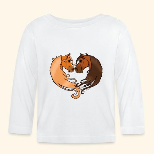 Chevaux amoureux alezan-bai - T-shirt manches longues Bébé