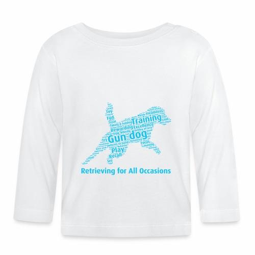 Retrieving for All Occasions wordcloud blått - Långärmad T-shirt baby
