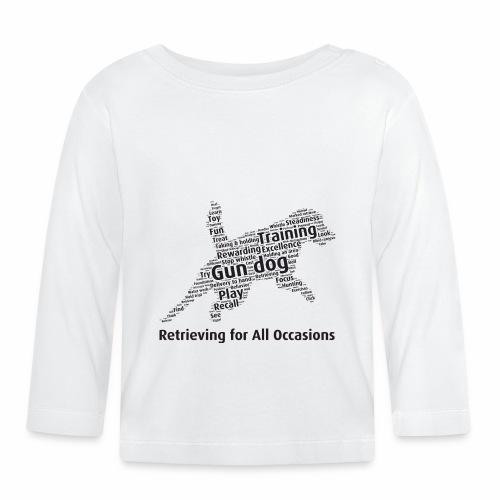 Retrieving for All Occasions wordcloud svart - Långärmad T-shirt baby