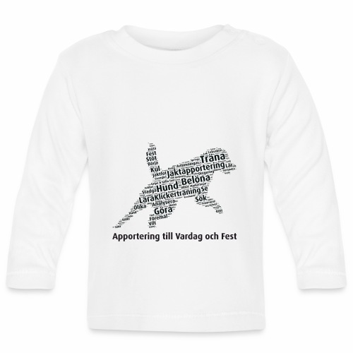 Apportering till vardag och fest wordcloud svart - Långärmad T-shirt baby