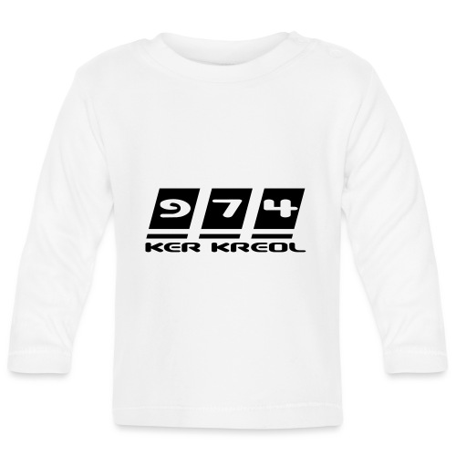 Ecriture 974 Ker Kreol - T-shirt manches longues Bébé