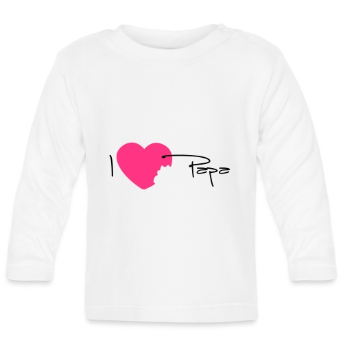 I love Papa 13 Vecto - T-shirt manches longues Bébé