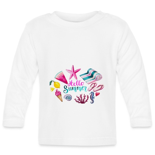 Hello Summer - T-shirt manches longues Bébé