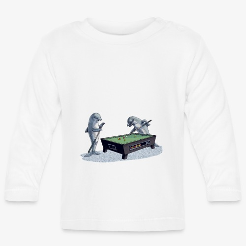 Dolphin Pool - Baby Long Sleeve T-Shirt