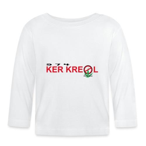 Logo 974 Ker Kreol Cible Sans interdit 02 2 - T-shirt manches longues Bébé