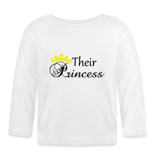 Their Princess - Långärmad T-shirt baby