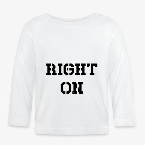 Right On - black - Baby Langarmshirt