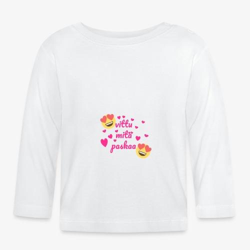 Fuck vad skit - Långärmad T-shirt baby