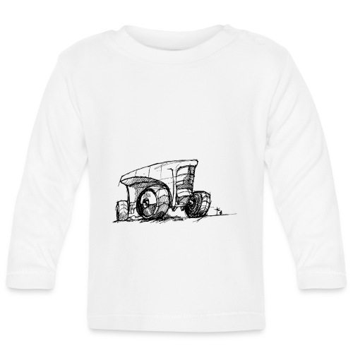 Futuristic design tractor - Baby Long Sleeve T-Shirt