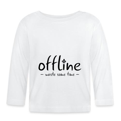 Waste some time offline – Lilie – Farbe wählbar - Baby Langarmshirt