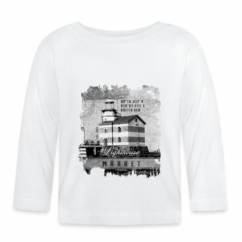 Märket majakkatuotteet, Finland Lighthouse, Harmaa - Vauvan pitkähihainen paita