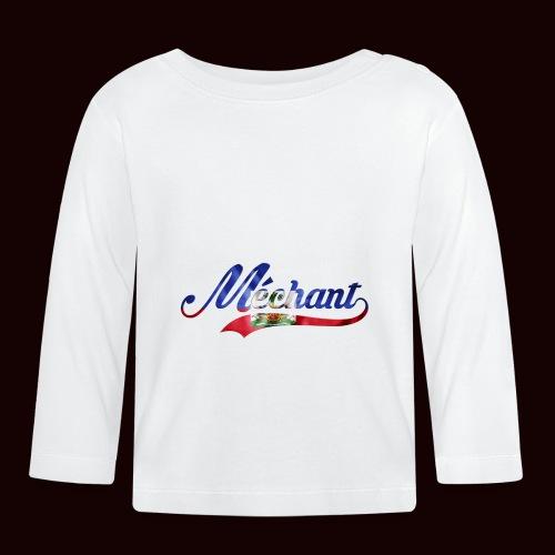 méchant drapeau haïtien - T-shirt manches longues Bébé