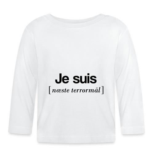 Je suis (sort skrift) - Langærmet babyshirt