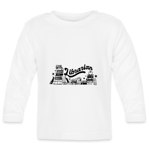 0321 Books Librarian stack of books funny - Baby Long Sleeve T-Shirt