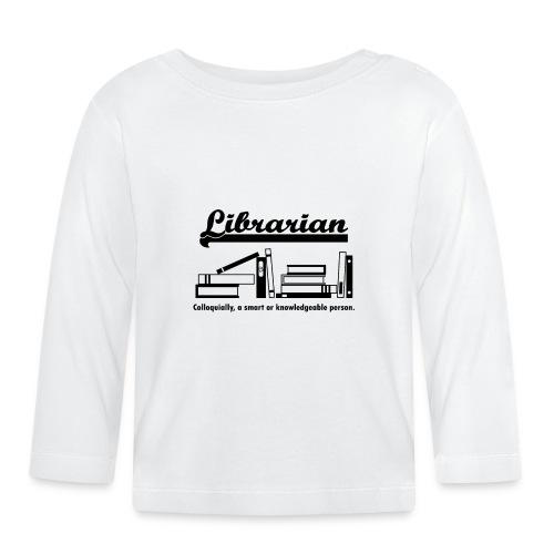 0332 Librarian Cool saying - Baby Long Sleeve T-Shirt