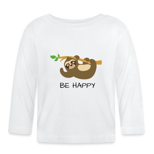 BE HAPPY - Baby Langarmshirt