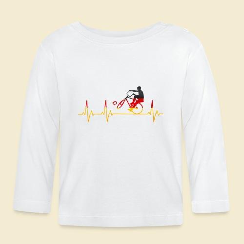 Radball | Cycleball Heart Monitor Germany - Baby Langarmshirt