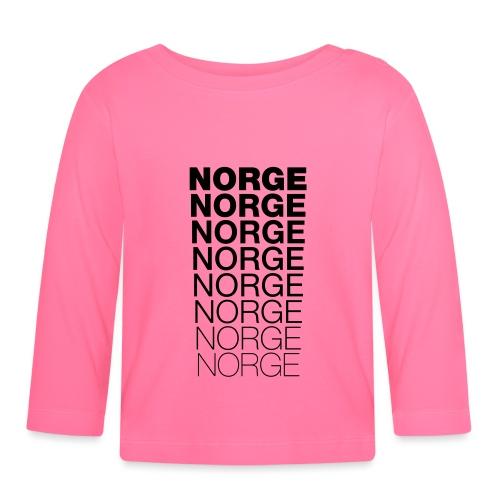 Norge Norge Norge Norge Norge Norge - Langarmet baby-T-skjorte