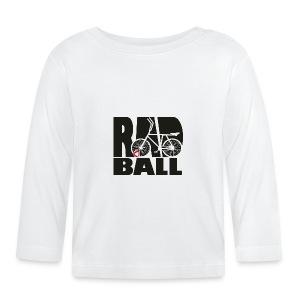 Radball | Typo Black - Baby Langarmshirt