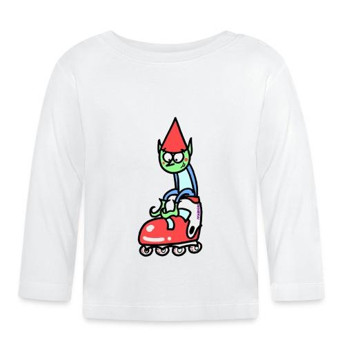El gnomo en el patín - Camiseta manga larga bebé