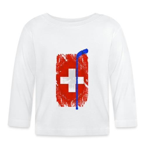 Schweizer Flagge Hockey - Baby Langarmshirt