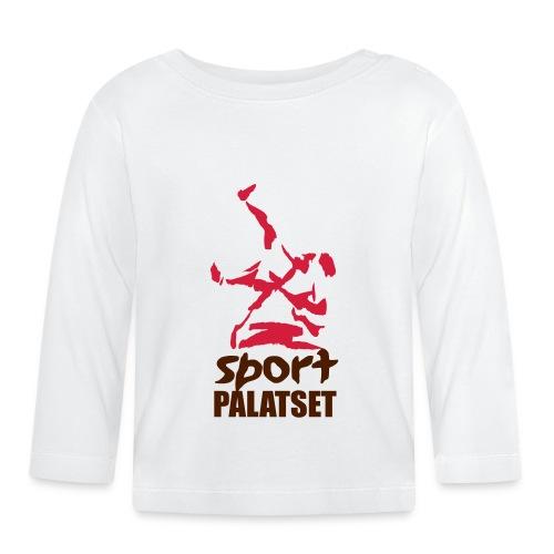Motiv med svart och röd logga - Långärmad T-shirt baby