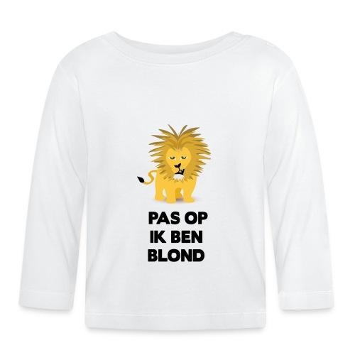 Pas op ik ben blond een cartoon van blonde leeuw - T-shirt