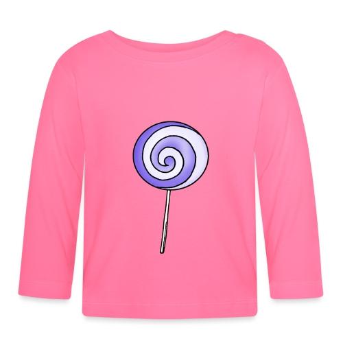 geringelter Lollipop - Baby Langarmshirt