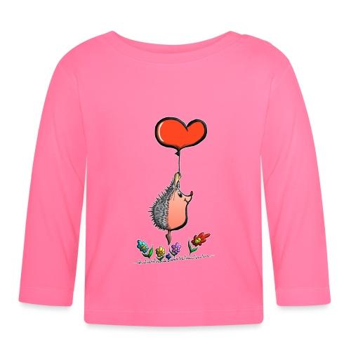 Hérisson avec une ballon pour les amoureux - T-shirt manches longues Bébé