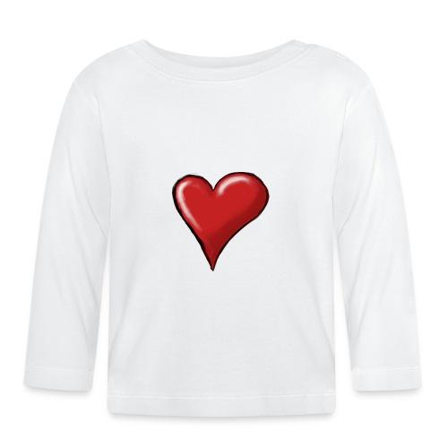 Love (coeur) - T-shirt manches longues Bébé