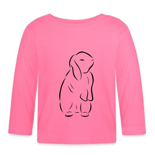 stehendes Häschen Hase Kaninchen Zwergkaninchen - Baby Langarmshirt