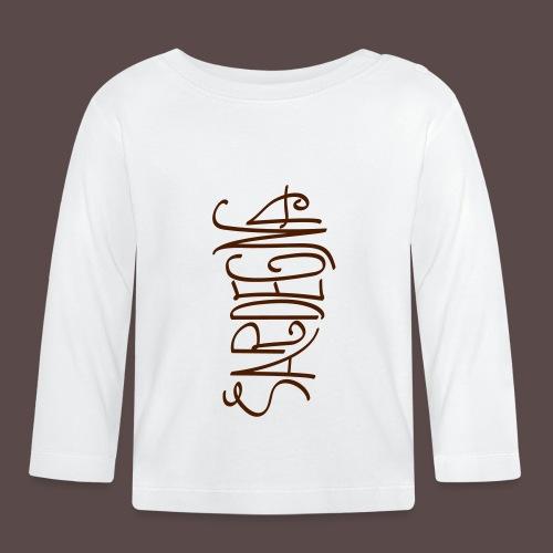Sardegna Calligrafica v2 - Maglietta a manica lunga per bambini