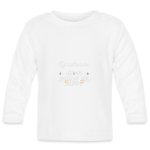 Safecoin Think Outside the Blocks (white) - Baby Long Sleeve T-Shirt