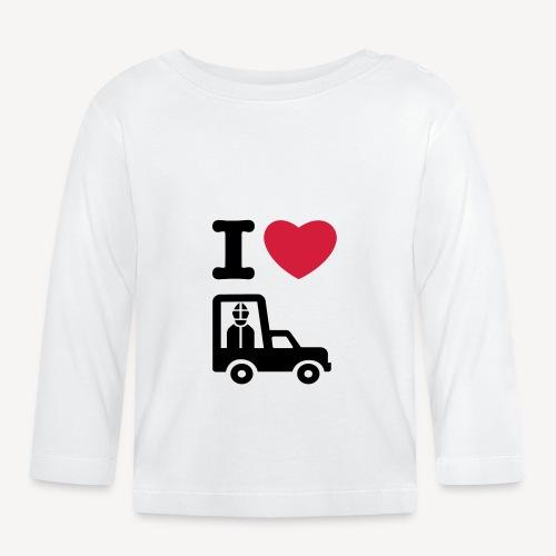 Papst im Auto - Baby Long Sleeve T-Shirt