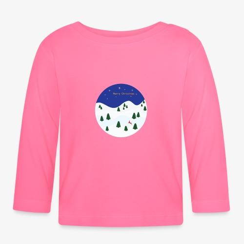 boule Noël bleue - T-shirt manches longues Bébé